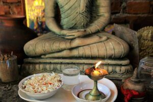 buddha, candle burning, How To Clear Negative Energy In The House? spiritual,