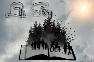 life story, black and white, stages of life
